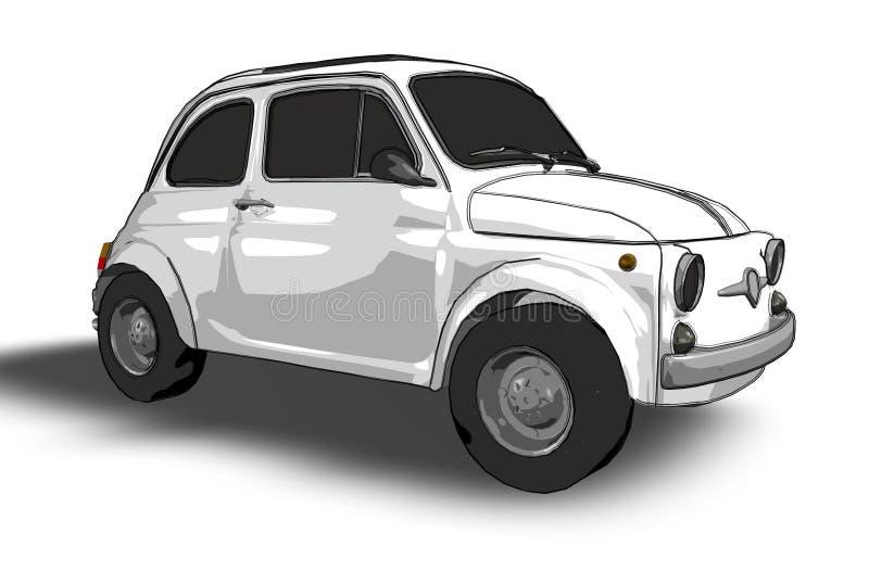 Fiat 500 (vector) royalty-vrije illustratie