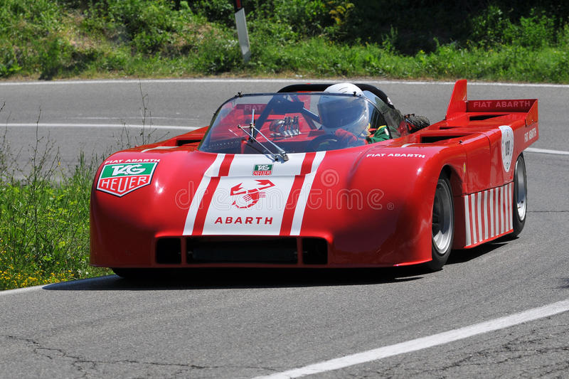 Download Fiat Abarth 1970 -Vernasca Silver Flag 2011 Editorial Stock Photo - Image: 20341028