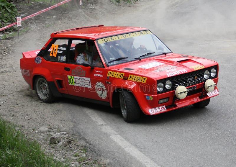 Fiat 131 Abarth immagine stock libera da diritti