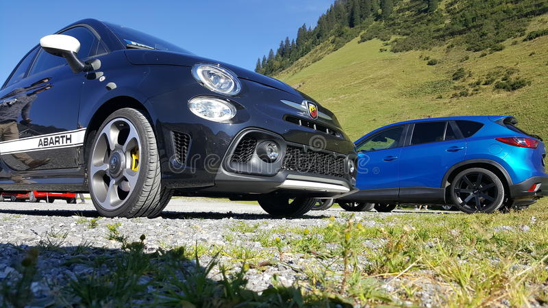 FIAT ABARTH 595 stockfotos