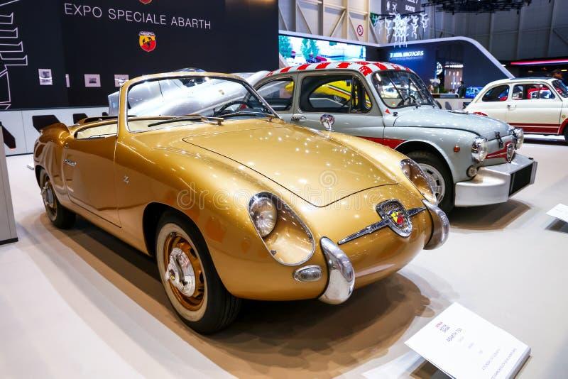 Fiat Abarth 750 spindel Zagato arkivfoto