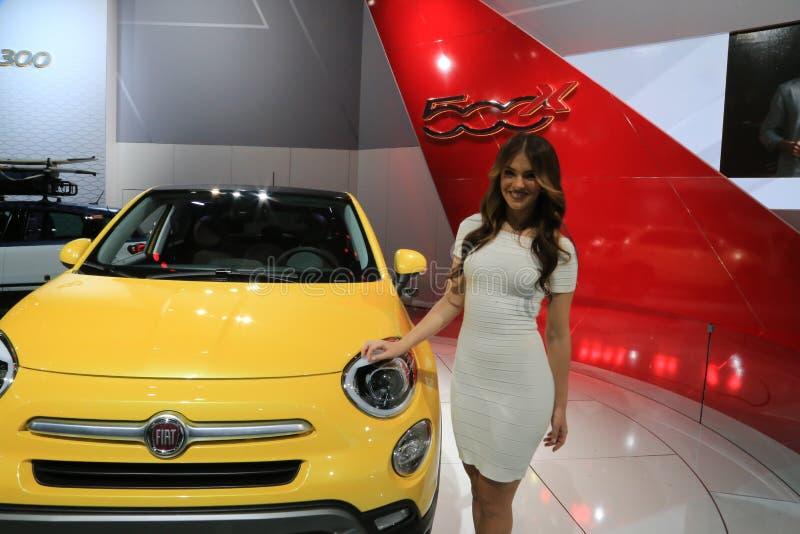 Fiat 2016 500X au NAIAS 2015 photographie stock libre de droits