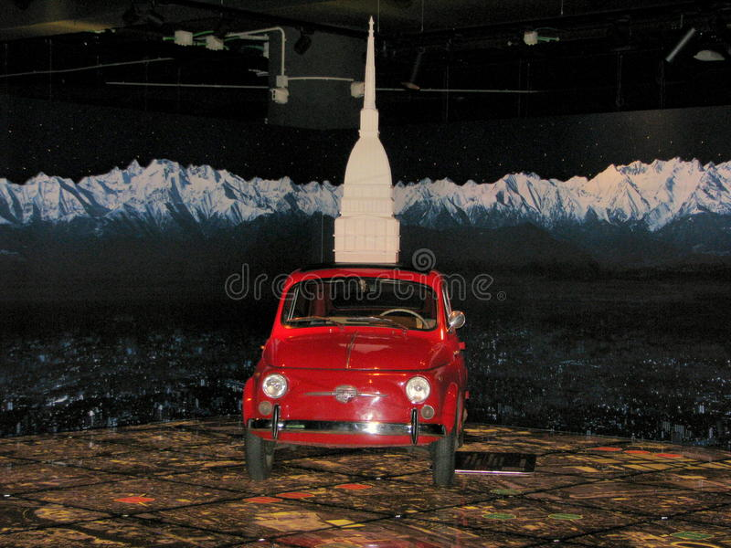 Fiat 500 car, exhibited at the National Museum of Cars. stock photos