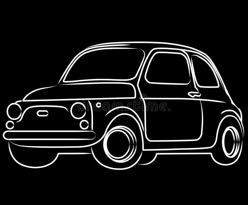 Download Fiat Cinquecento car stock illustration. Image of funny - 14989490