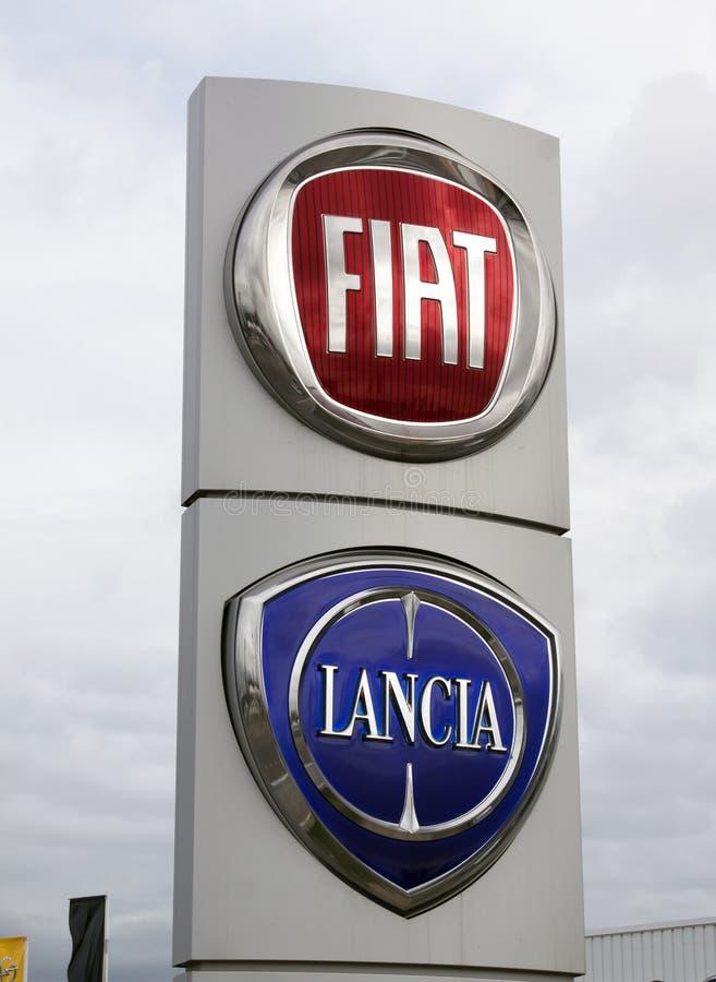 Fiat Lancia firma fotos de archivo