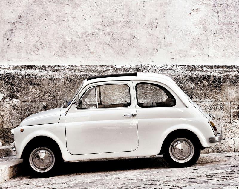 Fiat 500 in Ostuni stock photography