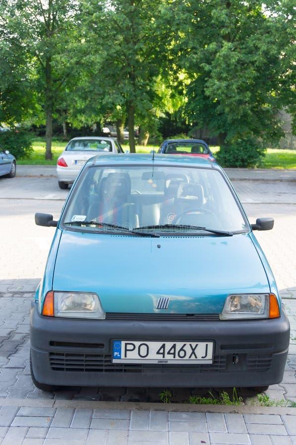 Fiat parcheggiato fotografia stock