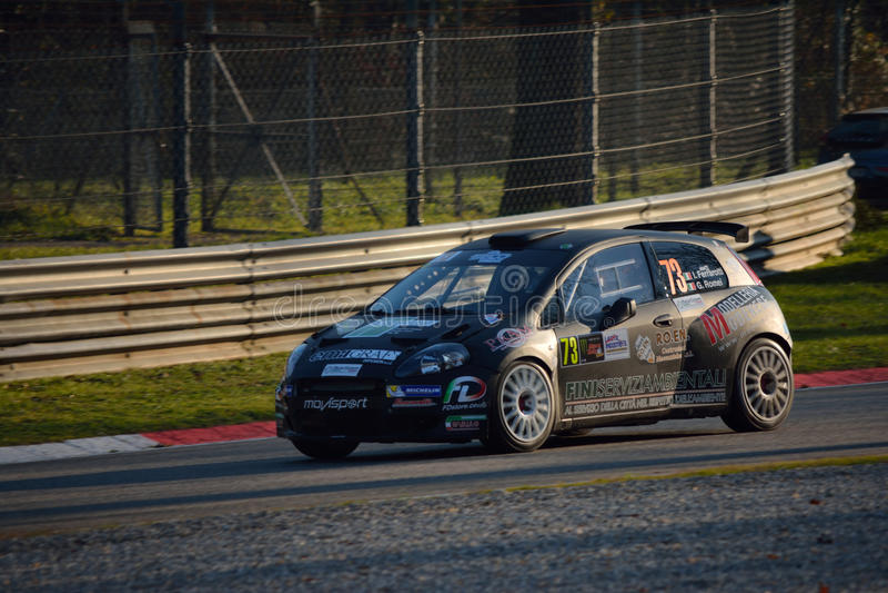 Fiat Punto-verzamelingsauto in Monza royalty-vrije stock foto