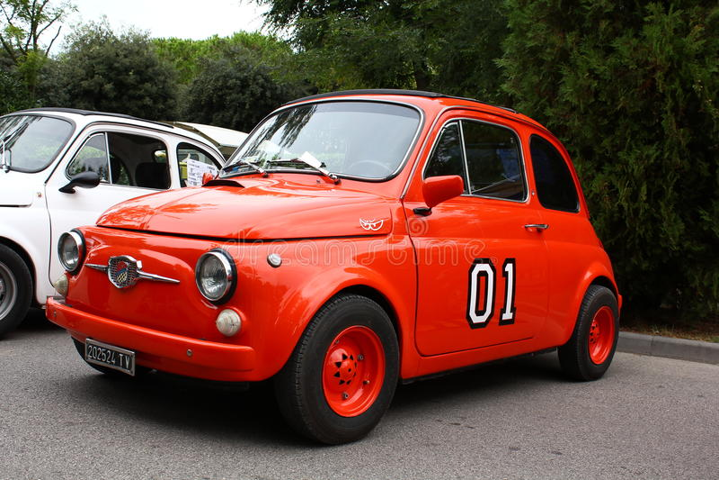 Fiat rosso 500 fotografia stock