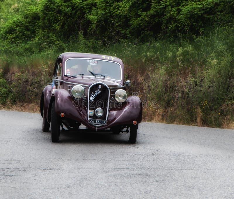 FIAT 508 S Berlinetta Mille Miglia 1936 stock foto