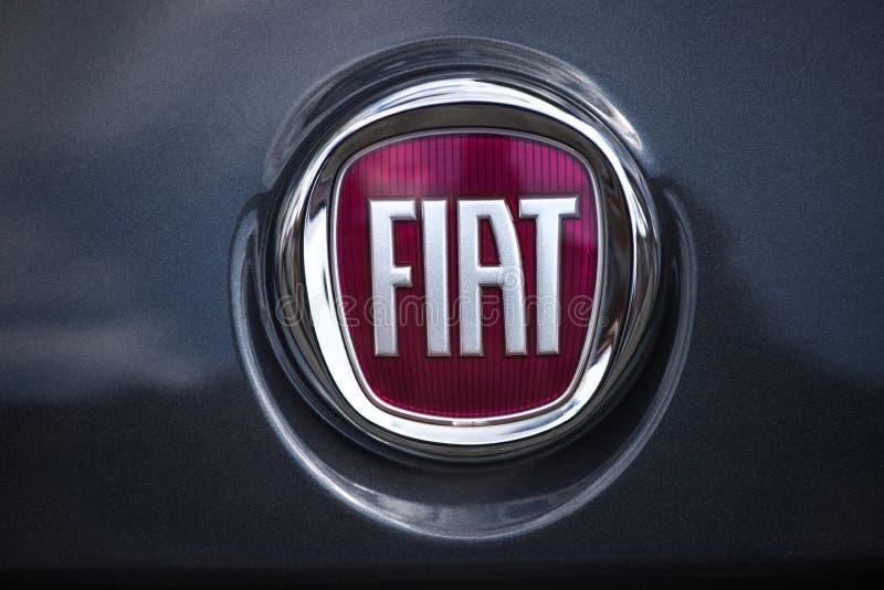 Fiat-Schild in Hagendeutschland stockfoto