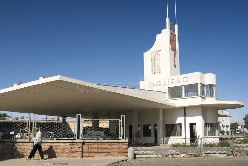 Włoska kolonialna architektura w Asmara Eritrea zdjęcie royalty free