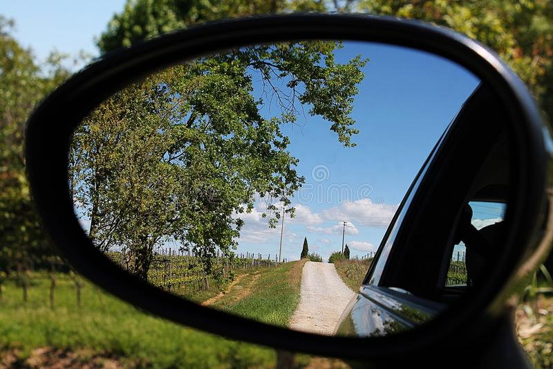 Fiat 500 Tuscany kraju wydanie obrazy royalty free