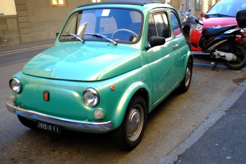 Fiat 500 vintage car royalty free stock photos