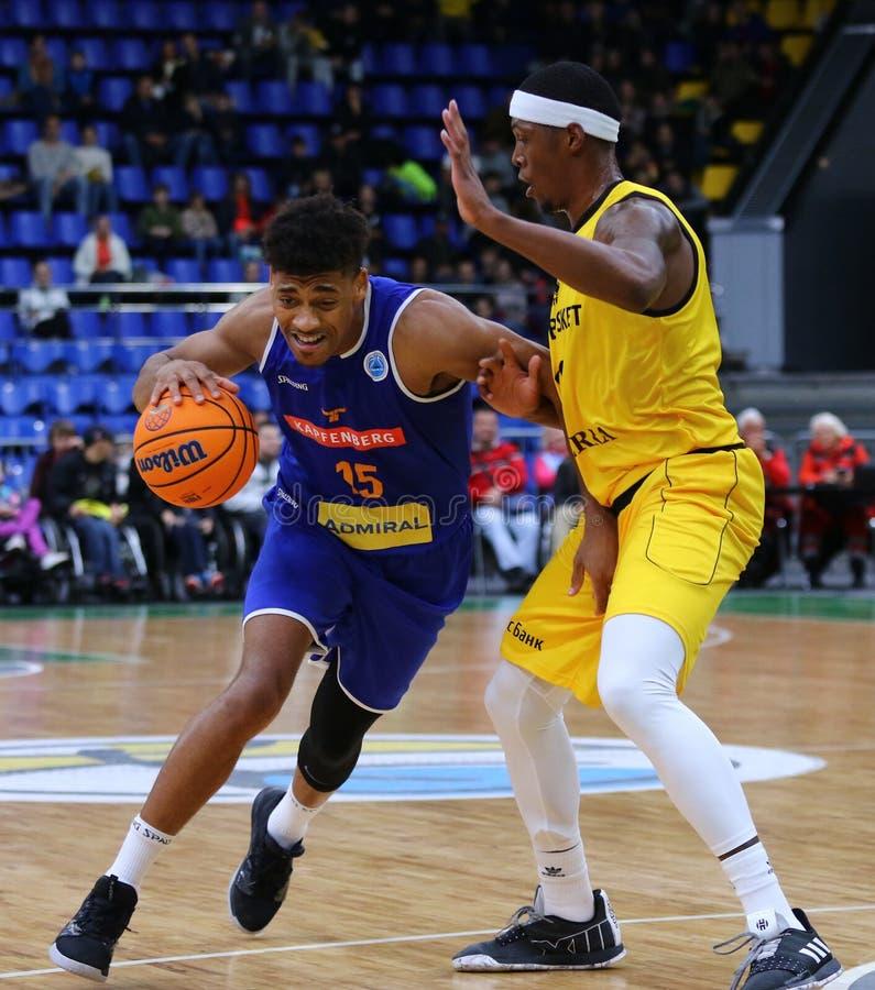 FIBA Basketball Champions League: BC Kyiv Basket v Kapfenberg Bulls royalty free stock photos
