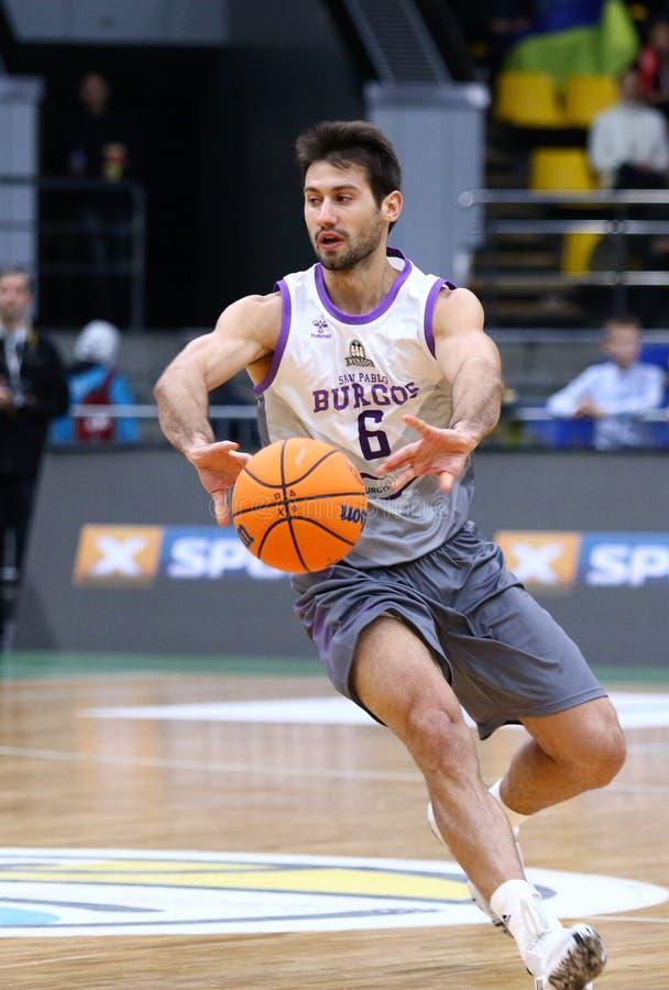 FIBA Basketball Champions League: BC Kyiv Basket v San Pablo Burgos royalty free stock photos