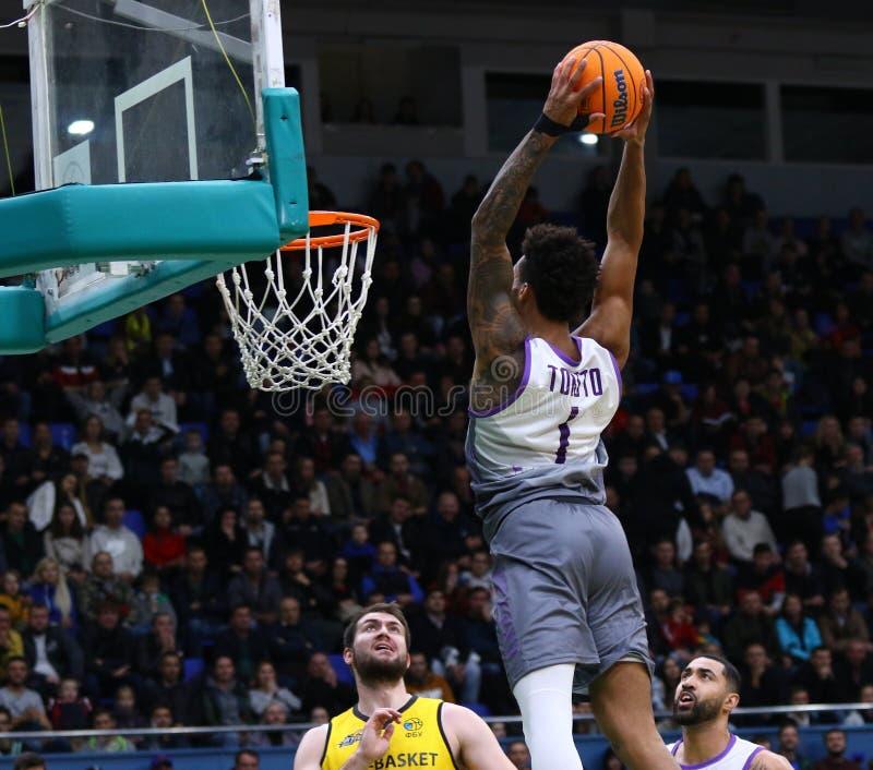 FIBA Basketball Champions League: BC Kyiv Basket v San Pablo Burgos stock photo
