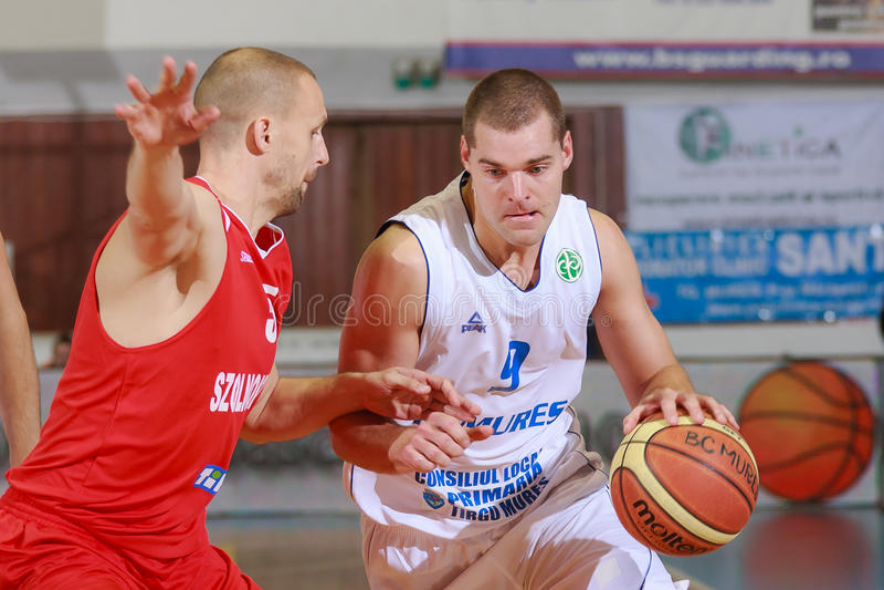 [FIBA Eurochallenge] BC Mures - Szolnoki Olaj royalty-vrije stock fotografie