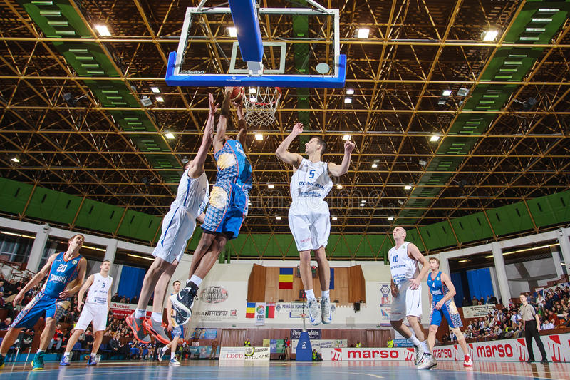 FIBA EuroChallenge: BC Mures vs Tsmoki Minsk obrazy stock