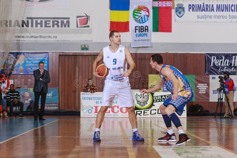 FIBA EuroChallenge: BC Mures vs Tsmoki Minsk zdjęcia royalty free