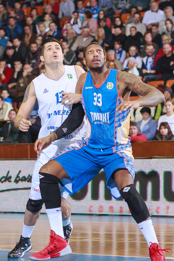 FIBA EuroChallenge: BC Mures vs Tsmoki Minsk zdjęcie stock
