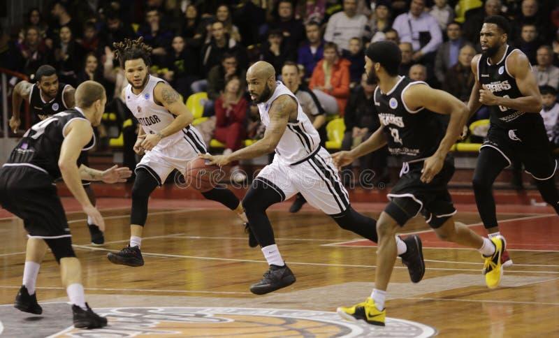 FIBA-Europa kopp basket Ryssland saratov arkivfoto