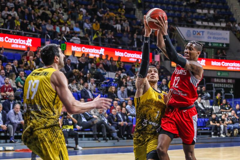 FIBA Intercontinental Cup Iberostar Tenerife vs Rio Grande Valley Vipers stock photography