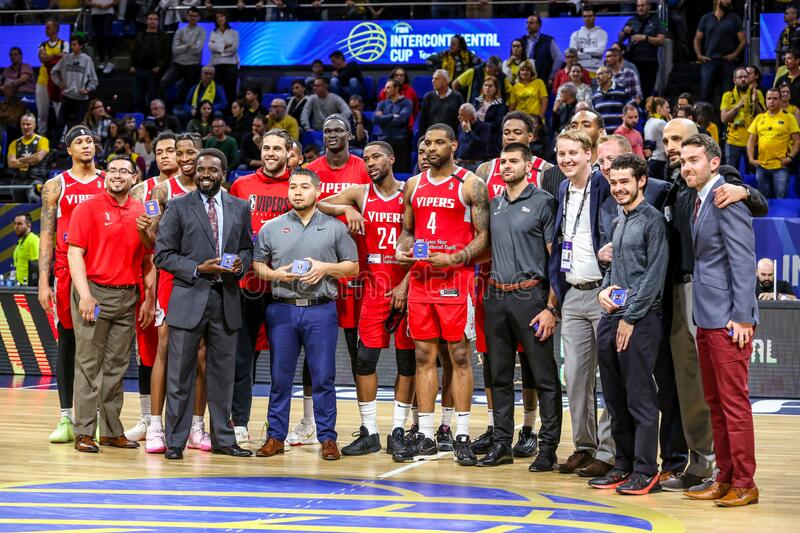 FIBA Intercontinental Cup Third place final - S.Lorenzo de Almagro vs Rio Grande Valley Vipers stock images