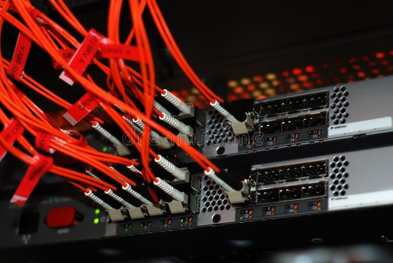Fiber cables stock photo