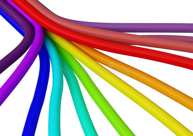 fiber för anslutning för kabel 3 vektor illustrationer