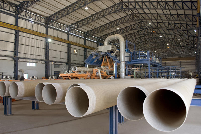 Fiber Glass Pipe Manufacturing Plant. In India royalty free stock images