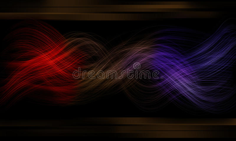 Download Fiber Glow And Effect Black Background Of Neon Royalty Free Stock Images - Image: 12544259