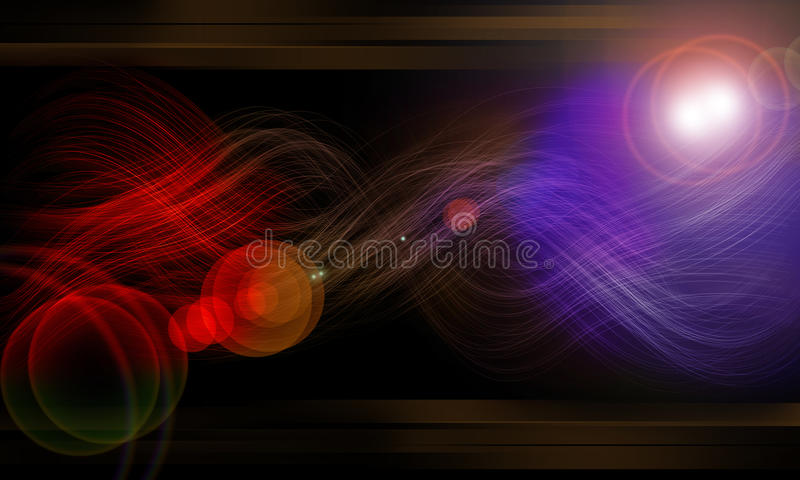 Download Fiber Glow And Effect Black Background Of Neon Stock Illustration - Illustration: 12544269