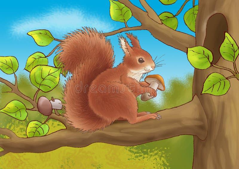 Download Fiber and a mushroom stock illustration. Illustration of redheaded - 7937310
