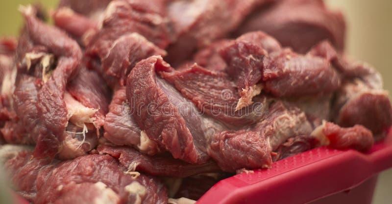 Fiber och detaljer av kalvkött royaltyfria foton
