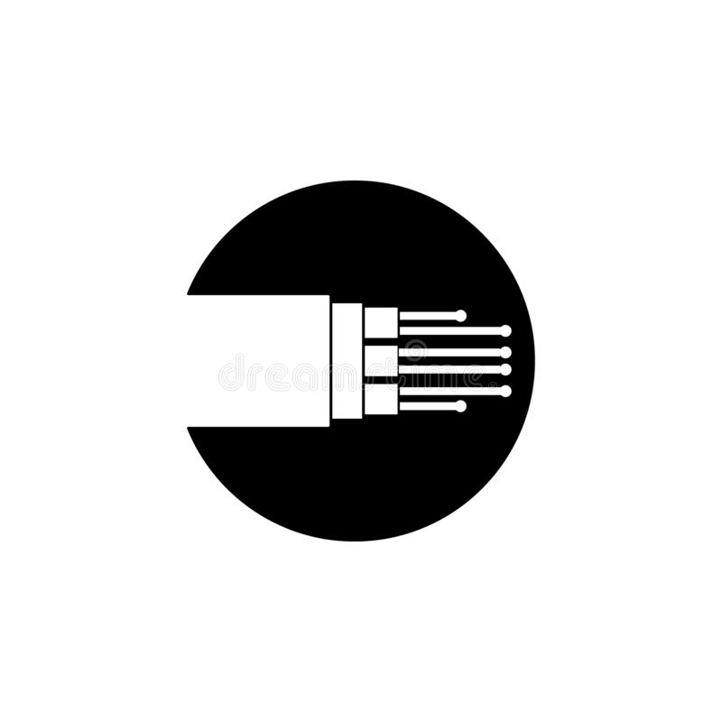 fiber optic cable icon. Element of internet connection icon. Premium quality graphic design icon. Signs and symbols collection vector illustration
