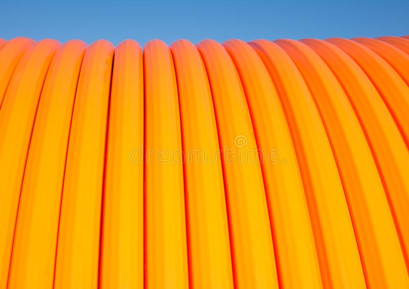 Fiber optic cable roll for broadband internet royalty free stock photos
