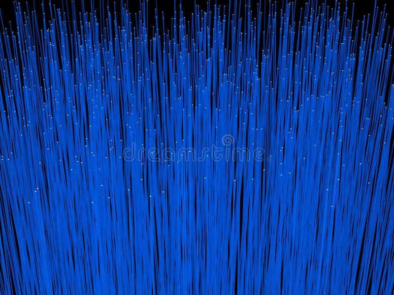 Fiber optic cables close up. 3D rendering of fiber optic cables. stock image