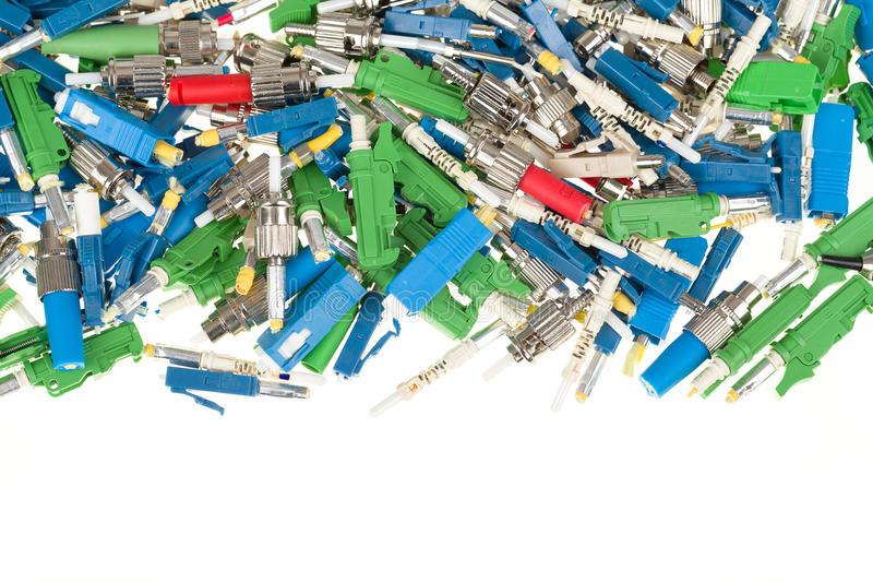 Download Fiber Optic Connectors Royalty Free Stock Photography - Image: 37694987