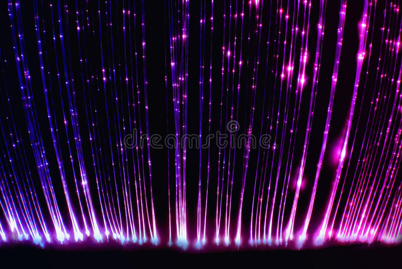 Fiber optic light cables in the light sensory room stock photos