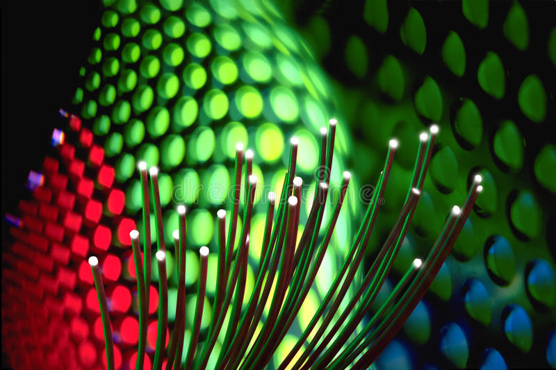 HIGH TECH FIBER OPTIC INDUSTRY TECHNOLOGY BACKGROUND royalty free stock photography