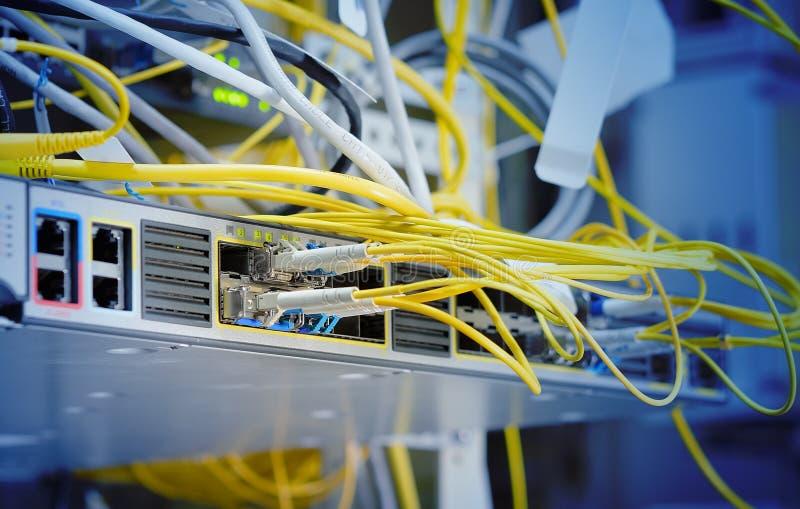 The fiber optical network stock image