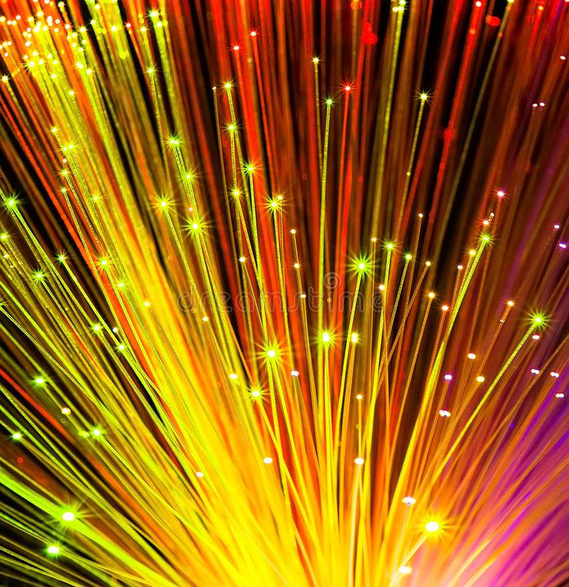 Fiber optical network cable stock images