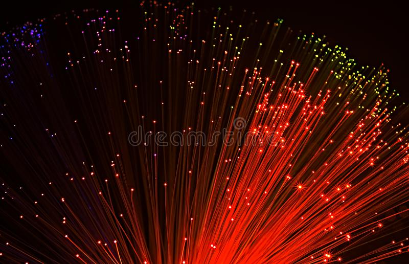Fiber optical network cable stock image
