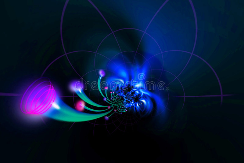 Fiber optics Cables royalty free illustration