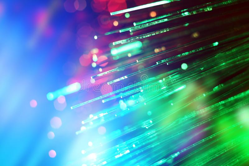 Fiber optics. Close up of Fiber optics stock photo