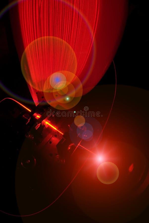 Fiber Optics And Laser Light Royalty Free Stock Photo