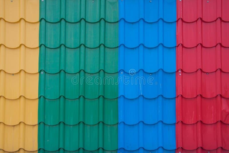 Fiber plastic roof tile royalty free stock photo