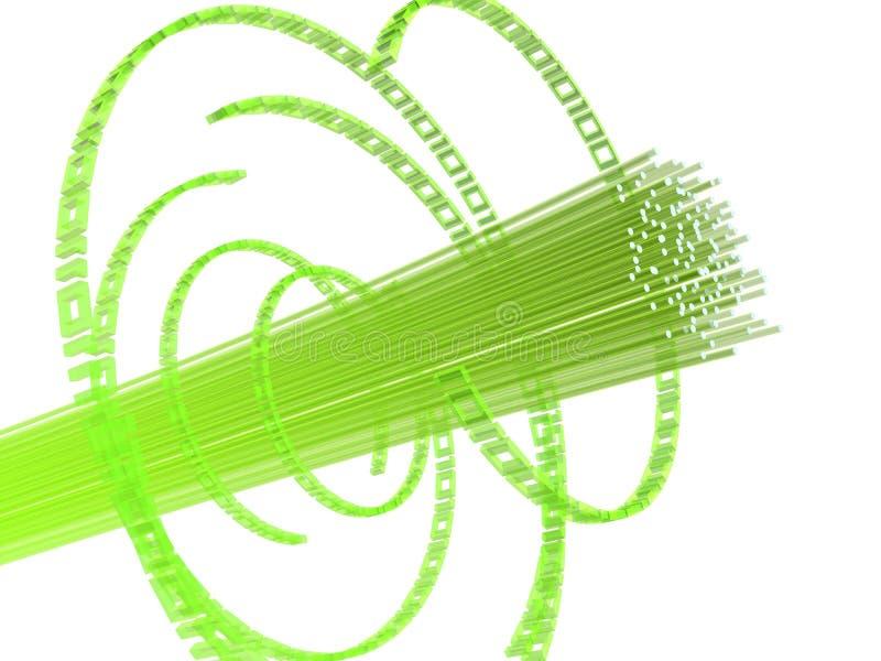 Fiber wire royalty free illustration