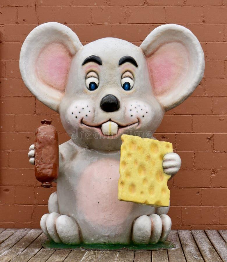 Fiberglas-Mäuseskulptur stockbilder